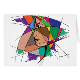 De abstracte Vrouw door Stanley Mathis Kaart