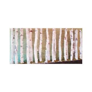 De Abstracte Waterverf van de Bomen van de berk Canvas Print