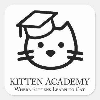 De Academie van het katje - de Katjes leren aan de Vierkante Sticker