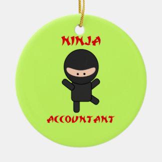 De Accountant van Ninja Rond Keramisch Ornament