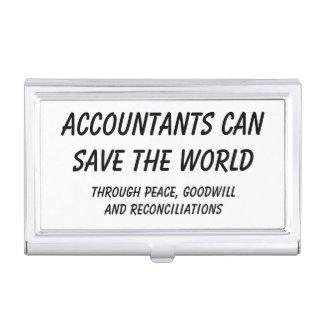 De accountants kunnen de wereld bewaren visitekaarthouder