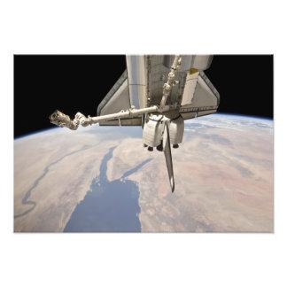 De achterdekse sectie van de gedokte ruimtependel foto afdrukken