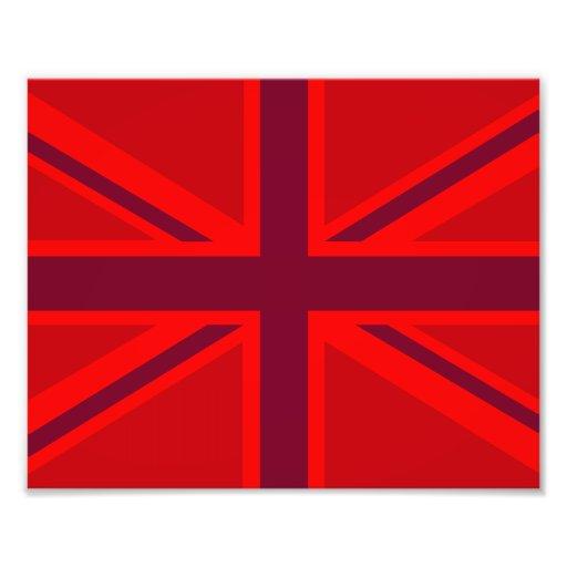 De Achtergrond Brits Union Jack van de rode Kleur  Foto Afdruk