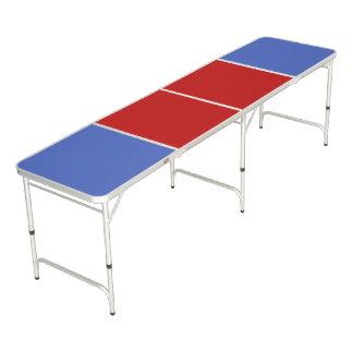 De Achtergrond van de Kleur slechts - blauw rood + Beer Pong Tafel