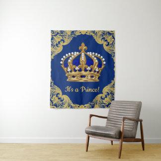 De Achtergrond van het Baby shower van de Kroon Wandkleed