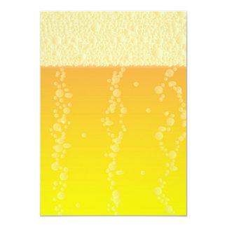 De Achtergrond van het bier 12,7x17,8 Uitnodiging Kaart