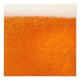 De achtergrond van het bier 13,3x13,3 vierkante uitnodiging kaart