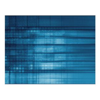 De Achtergrond van het Mozaïek van de technologie Briefkaart