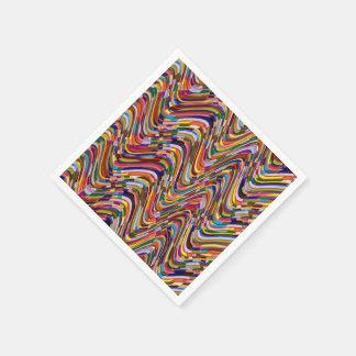 De acryl Sjabloon van de Textuur van de Kleur Wegwerp Servetten