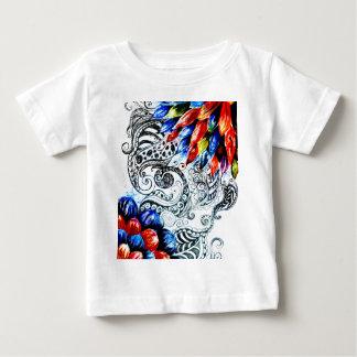 De AcrylBloemen van Grunge Baby T Shirts