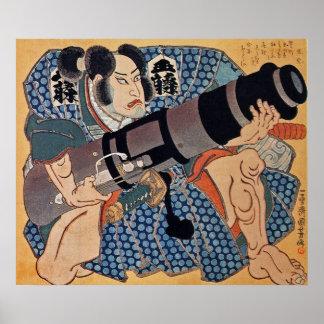 De acteur ~ Utagawa Kuniyoshi (歌川国芳 1797-1861) Poster