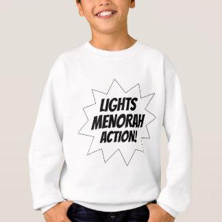 De Actie van Menorah van lichten - Zwarte Trui
