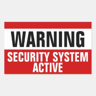 De Actieve Stickers van het Veiligheidssysteem van