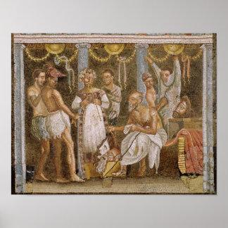 De actoren die voor Satyr repeteren spelen, c.62-7 Poster