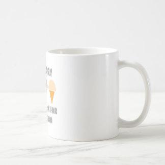 De actuaris zal… voor Roomijs werken Koffiemok