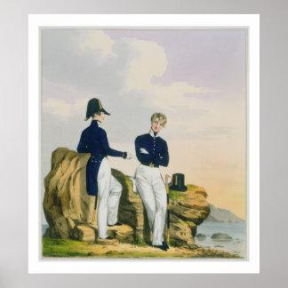 De adelborsten, plateren 3 van 'Kostuum van Konink Poster