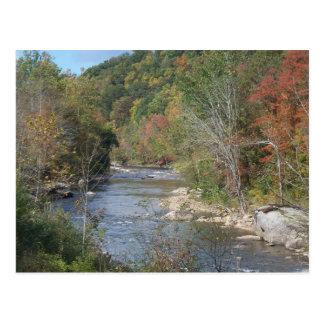 De adembenemende Rivier West- van Virginia Briefkaart