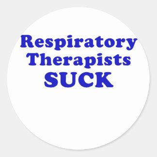 De ademhalings Therapeuten zuigen Ronde Sticker