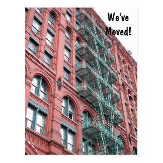 De Adreswijziging van de Foto van het Flatgebouw Briefkaart