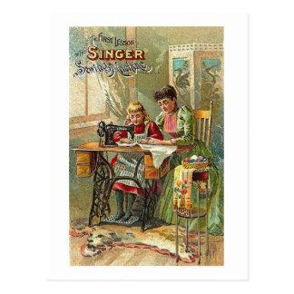 De Advertentie van de Naaimachine van de zanger de Briefkaart