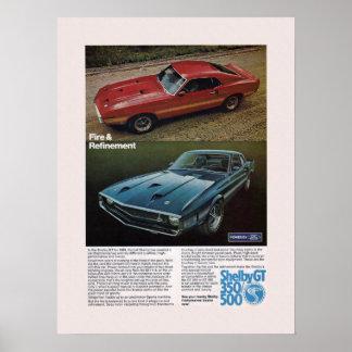 De Advertentie van Shelby van de Auto van de spier Poster