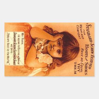 De Adverterene Schroef Vastgemaakte Schoenen van Rechthoekige Sticker