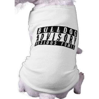 De Adviserende Schadelijke Dampen van de buldog T-shirt