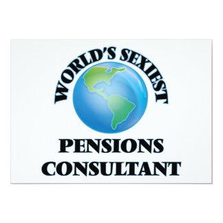 De Adviseur van de Pensioenen van Sexiest van de 12,7x17,8 Uitnodiging Kaart