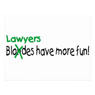 De advocaten hebben Meer Pret Briefkaart
