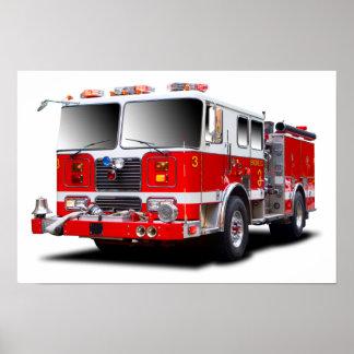 De afbeeldingen van de Motor van de brand voor Poster