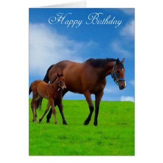 De Afbeeldingen van het paard voor wenskaart