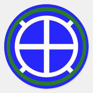De Afdeling van de Infanterie van het leger Ronde Sticker