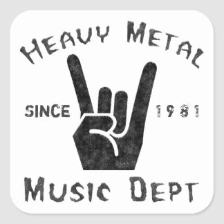 De Afdeling van de Muziek van het zware Metaal Vierkante Sticker