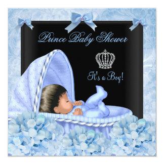 De Afrikaanse Amerikaanse Jongen van het Baby 13,3x13,3 Vierkante Uitnodiging Kaart