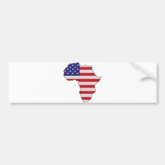 De Afrikaanse Amerikaanse Vlag van Afrika Bumpersticker