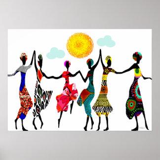 De Afrikaanse Dans van het Lof Poster