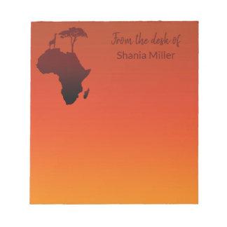 De Afrikaanse Kaart van de Safari - Blocnote