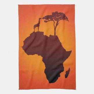 De Afrikaanse Kaart van de Safari - de Handdoek