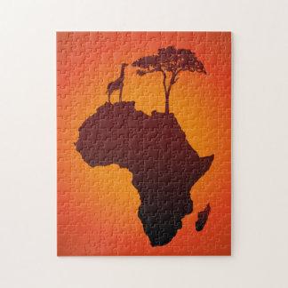 De Afrikaanse Kaart van de Safari - Raadsel Puzzel