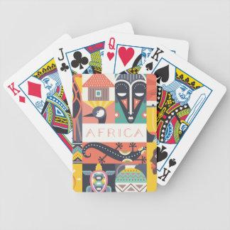 De Afrikaanse Symbolische Collage van de Kunst Pak Kaarten