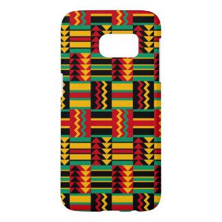 De Afrikaanse Zwarte van de Trots van het Weefsel Samsung Galaxy S7 Hoesje