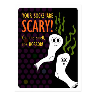 De afschuwelijk Stinkende Sokken van Halloween Briefkaart