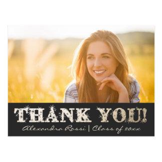 De afstuderen danken u Briefkaart | Goud