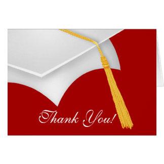 De afstuderen danken u nota nemen Pet van het Briefkaarten 0
