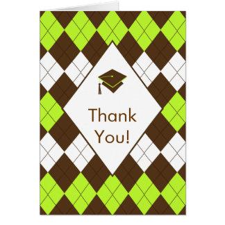 De afstuderen danken u nota nemen van Kaart Bruine
