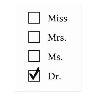 De afstuderenbriefkaart van het doctoraat briefkaart