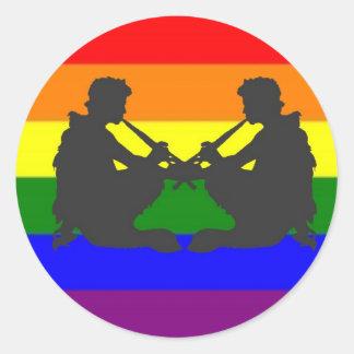 De afwisselende Griekse Vrolijke Vlag van de Trots Ronde Sticker