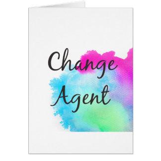 De Agent van de verandering Wenskaart