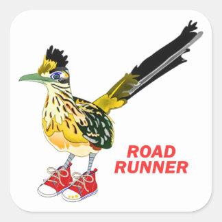 De Agent van de weg in Rood Sneakers Vierkante Sticker