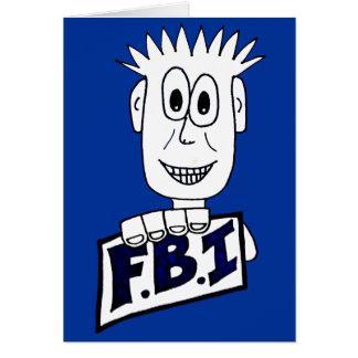 De Agent van het FBI van de cartoon Wenskaart